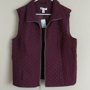 NWT Christophe and banks quilted sleeveless jacket